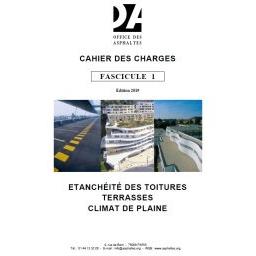 Fascicule 1 - Étanchéité des toitures terrasses (climat de plaine)