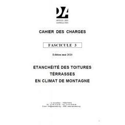 Fascicule 3 - Étanchéité des toitures terrasses (climat de montagne)